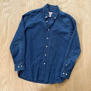 Mens Brooks Brothers Chambray Long Sleeve Denim Oxford Shirt S Small